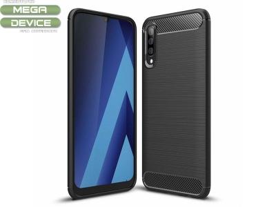 Силиконов гръб Carbon за Samsung Galaxy A70 , Черен