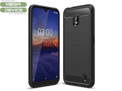 Силиконов гръб Carbon за Nokia 2.2 (2019), Черен