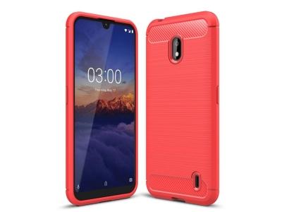 Силиконов гръб Carbon за Nokia 2.2 2019 , Червен