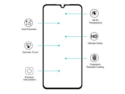 Стъклен протектор 5D Full Glue за Xiaomi Mi 9 SE, Черен
