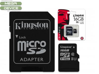 16GB SDMICRO +ADAP KINGSTON CL10