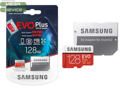 128GB MicroSD карта на Samsung EVO Plus Class10