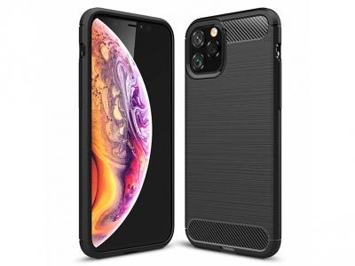 Силиконов гръб Carbon за iPhone 11 Pro (5.8), Черен
