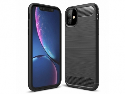 Силиконов гръб Carbon за iPhone 11 (6.1), Черен