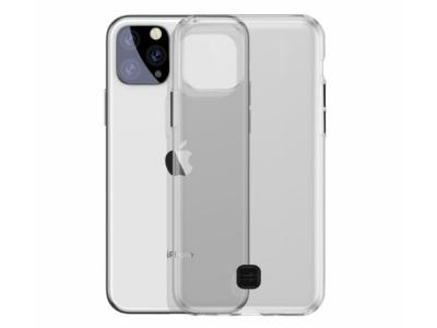 Силиконов Гръб BASEUS за iPhone 11 (6.1 ) (2019), Черен/ Прозрачен