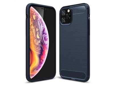Силиконов гръб Carbon за iPhone 11 Pro, Син