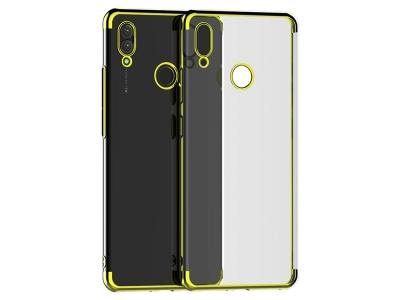 Силиконов гръб с лайсна CLEAR за Huawei P Smart Z / Huawei  Y9 Prime 2019, Златист