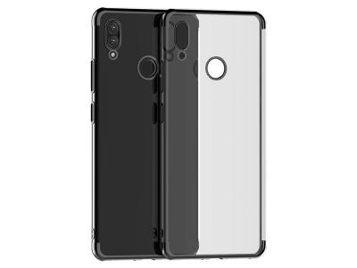Силиконов гръб с лайсна CLEAR за Huawei P Smart Z / Huawei Y9 Prime 2019, Черен