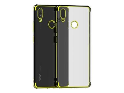 Силиконов калъф  с лайсна - CLEAR Huawei P Smart 2019 Gold