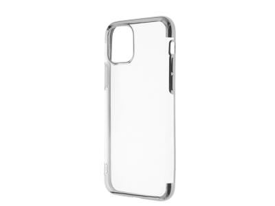 Силиконов калъф с лайсна CLEAR за iPhone 11 Pro, Сив