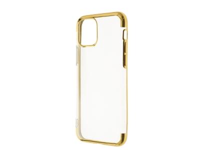 Силиконов калъф с лайсна CLEAR за iPhone 11 Pro, Златист