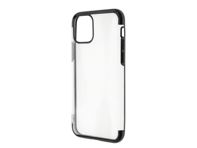 Силиконов калъф с лайсна CLEAR за iPhone 11 Pro, Черен