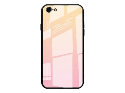 Стъклен Гръб Glass за iPhone 7 / iPhone 8, Розов / Златист