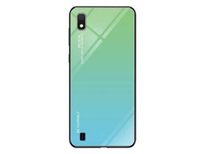 Стъклен Гръб Glass за Samsung Galaxy A10, Циян / Син