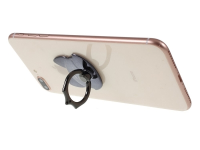 Пръстенче стойка за телефон черна лисица