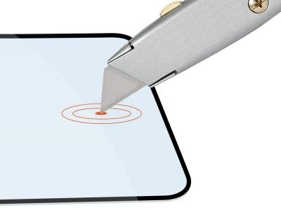 Стъклен Протектор Full Glue 5D за Motorola Moto G7 Play, Черен