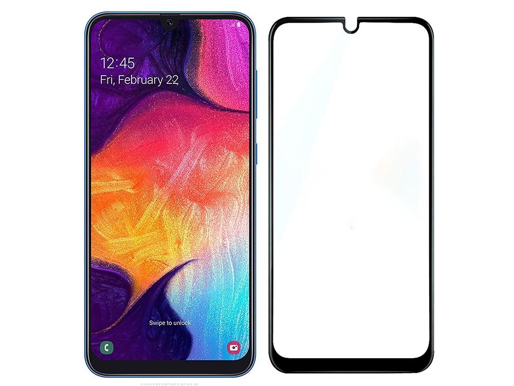 Стъклен Протектор Full Glue 5D за Samsung Galaxy A10, Черен