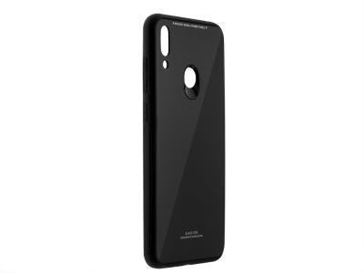 Пластмасов Гръб Glass за Huawei Y7 (2019), Черен