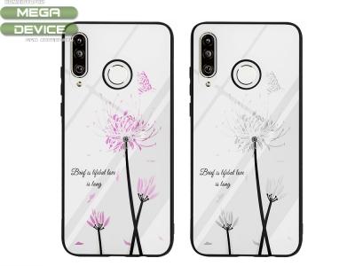 Стъклен гръб Glass Magic за Huawei P30 Lite, Цвете и Пеперуда