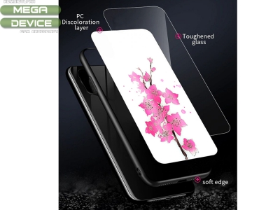 Стъклен гръб Glass Magic за Huawei P30 Lite , Лилиум и Пеперуда