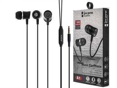 Слушалки с микрофон 3.5mm - PCPro A1, Черен