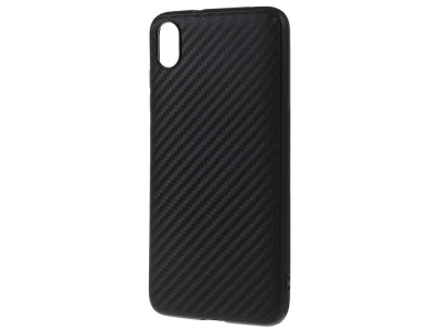 Силиконов гръб Carbon за Xiaomi Redmi 7A, Черен