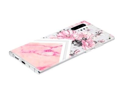 Силиков гръб Embossed за Samsung Galaxy Note 10 Plus/Note 10 Plus 5G , Розови Цветя