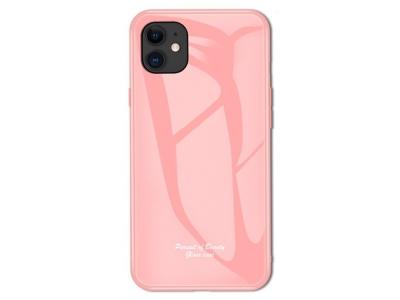 Калъф Гръб Glass Macaroon -  iPhone 11 6.1 inch - Pink