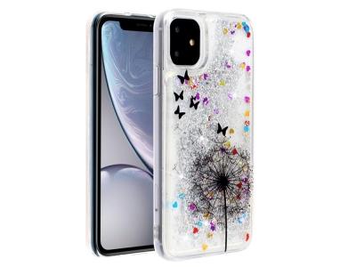 Силиконов гръб Glitter за iPhone 11 (6.1), Глухарчета и Пеперуди