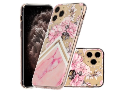Силиконов Гръб за iPhone 11 Pro (5.8) Розови цветя