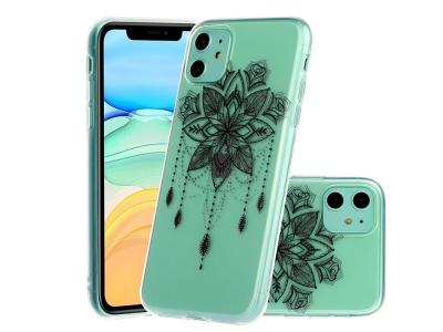 Силиконов Гръб -  iPhone 11 6.1 inch - Black Flower