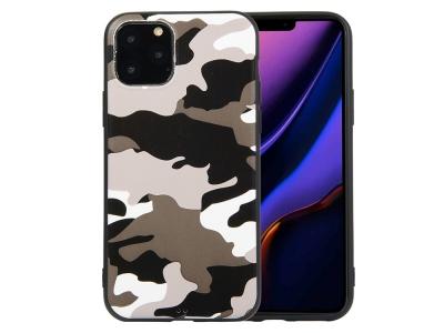Силиконов Гръб Camouflage -  iPhone 11 6.1 inch - White