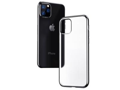 Силиконов Гръб Matte за iPhone 11 Pro Max (6.5 ), Черен