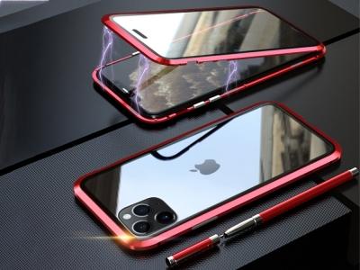 360 Алуминиев магнитен калъф LUPHIE за iPhone 11 Pro (5.8), Червен