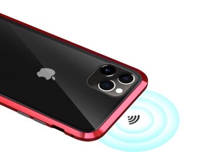 360 Алуминиев магнитен калъф LUPHIE за iPhone 11 (6.1), Червен