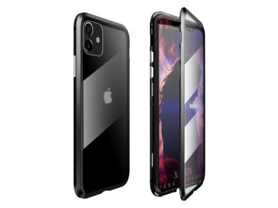 360 Алуминиев магнитен калъф LUPHIE за iPhone 11 (6.1), Черен