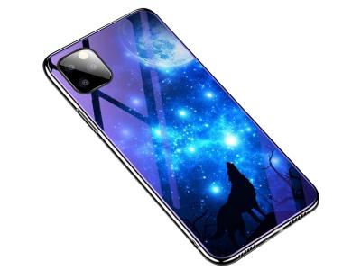 Стъклен Гръб Glass Blue-ray за iPhone 11 Pro (5.8) , Вълк