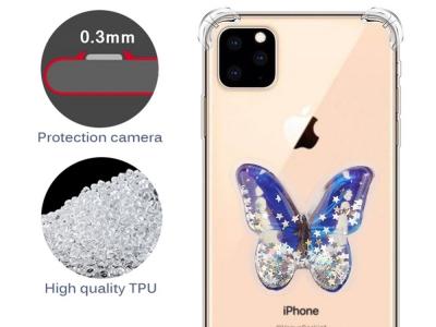 Силиконов Гръб Shock-proof за iPhone 11 (6.1) , Пеперуда