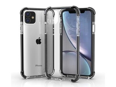 Удароустойчив Гръб Drop-resistan за iPhone 11 (6.1),Прозрачен със Сива лайстна