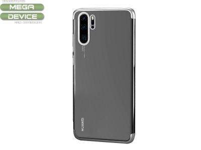 Силиконов калъф с лайстна CLEAR за Huawei P30 Pro, Сребрист