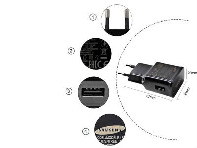 Оригинално зарядно SAMSUNG Fast Charging + Typе C кабел  2A, Черен