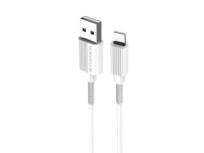 Кабел BOROFONE Ujet BX11 iPhone Lightning 1M, Бял