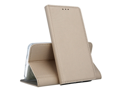 Калъф тефтер Smart Case за Huawei Honor 20 Lite, Златист