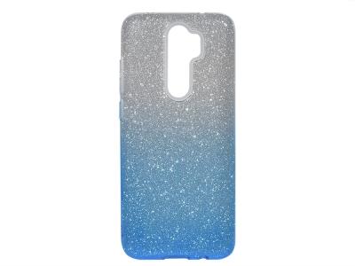 Силиконов Гръб SHINING за Xiaomi Redmi Note 8 Pro, Сребрист/ Син