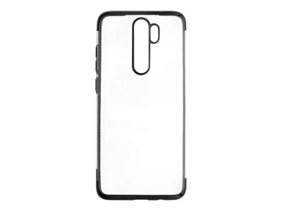 Силиконов гръб с лайсна CLEAR Xiaomi Redmi Note 8 Pro, Черен