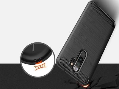 Силиконов гръб Carbon за Xiaomi Redmi Note 8 Pro, Черен