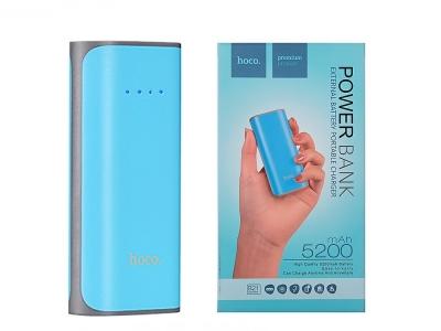 Универсална Външна Батерия HOCO Tiny 5200 mAh, Син