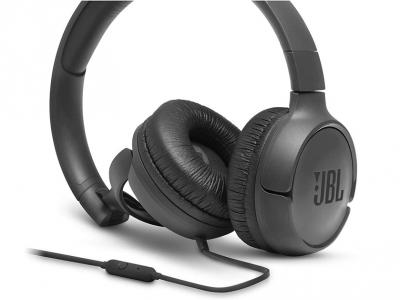 Слушалки с микрофон JBL T500 , Черен