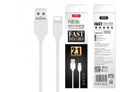 Кабел за данни XO - NB36 Type C USB, Бял