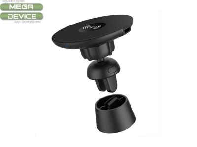 Поставка за Автомобил с Безжично Зарядно Type 10 Fast Charge QC 3.0, Черен